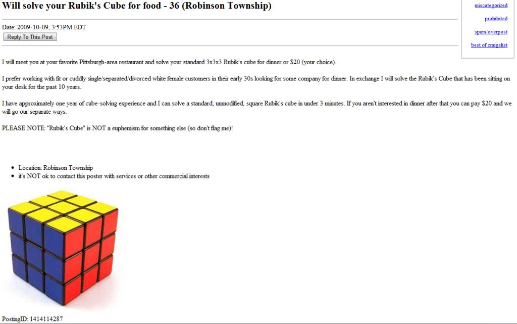 Will Solve Your Rubik's Cube For Food