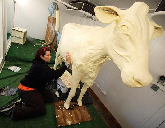 600-Pound Cow Sculpture Made From Butter
