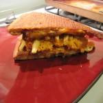 Buffalo Chicken Pizza Dip Sandwich - Side View