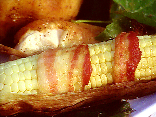 Bacon Wrapped Grilled Corn on the Cob - Fried Stuff with Cheese