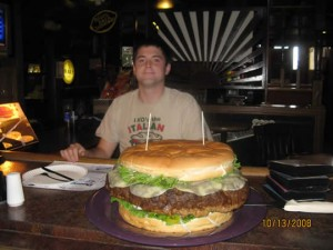Denny's Beer Barrel Pub 15lb-burger